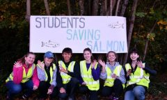 Students Saving Salmon Restore Shell Creek Stream Bank